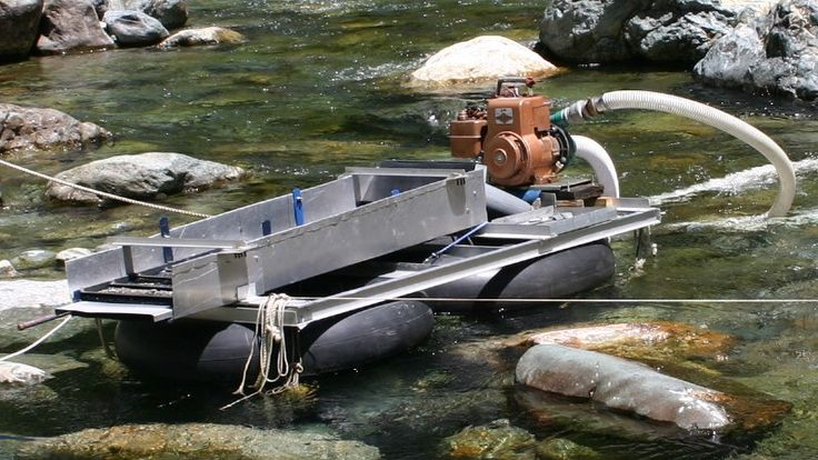 Plan and design your own home made suction dredge for gold
