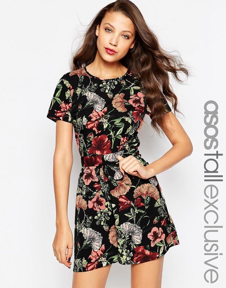 Image 1 of ASOS TALL Playsuit in Floral Print