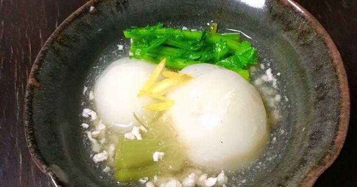 寒い夜には あったか蕪と鶏挽肉の煮物(高取焼宗家の器を使用)