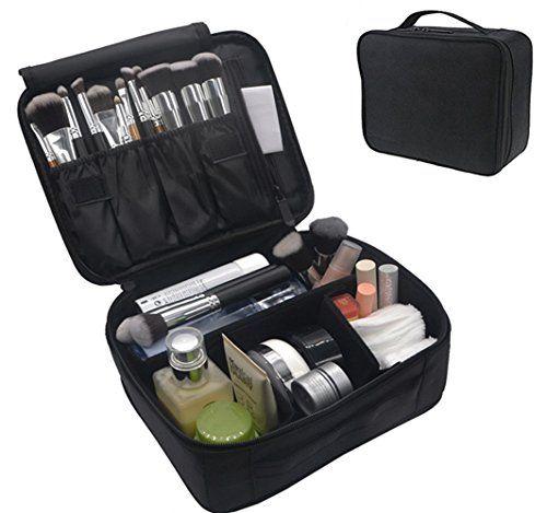 Portable Makeup Train Case, FLYMEI Waterproof Cosmetic Organizer Kit Make Up Art…
