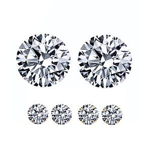 1/3 Ct Round Cut D/VVS1 Diamond 4-Prong 18K Gold Over Stud Earrings $999 by JewelryHub on Opensky