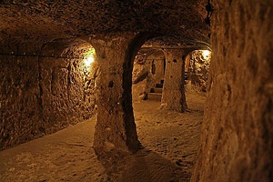 The Derinkuyu cave cities in Turkey  Check this one off my list! Went Christmas of 2012 :)