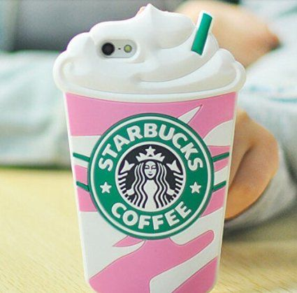 "Starbucks Glace 3D Coque souple en Silicone, rose, Iphone 6 (5.5"")"