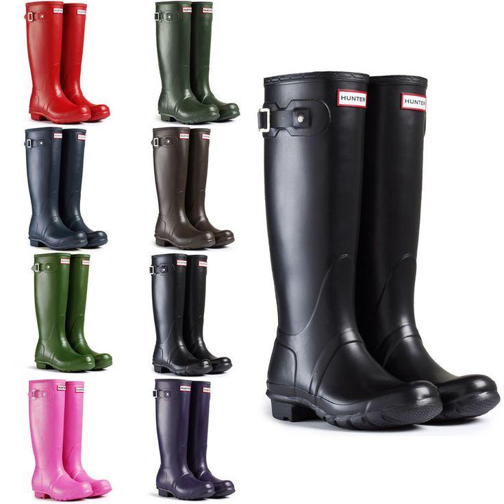 $89.99 WORLDWIDE FREE SHIPPING Hunter Wellington Rain Boots Women #Hunter #Rainboots