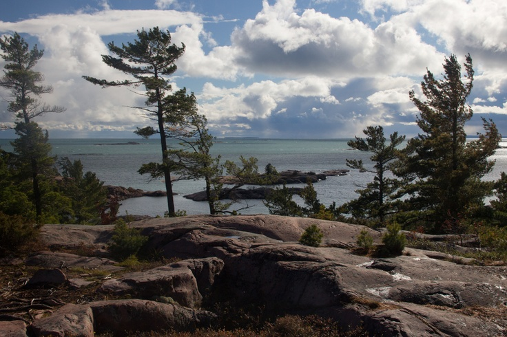 Looking over Georgian Bay from Granite Ridge, Killarney Provincal Park, Ontario