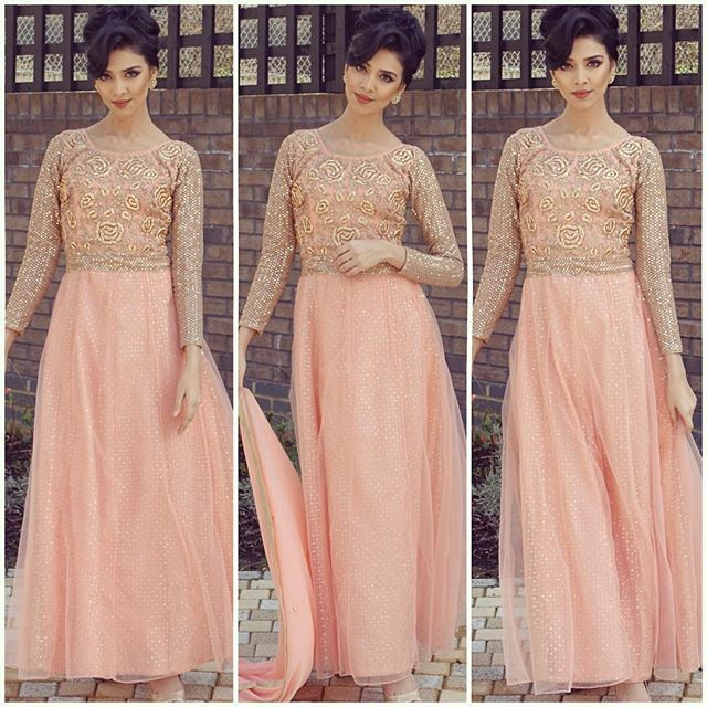 Thank you sooo much for your compliments everyone, this beautiful outfit is from @imanboutique I love how elegant it is! And I love peach I promise you guys I will have just hair tutorials up next week including this hair do I did myself  (YouTube: Rumena Begum) love you all <3