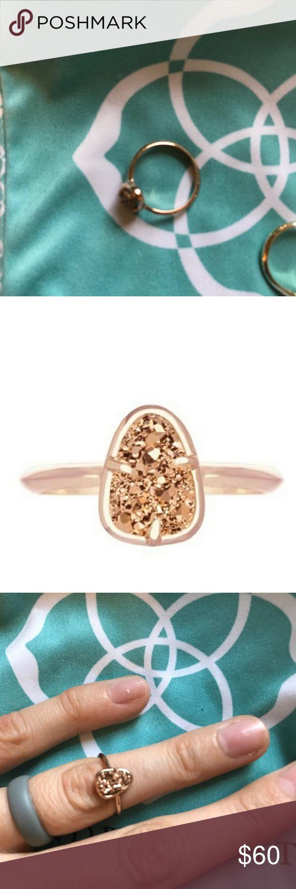 Kendra Scott Haylee Rose Gold Druzy Ring Like new. Includes dust bag. Kendra Scott Jewelry Rings