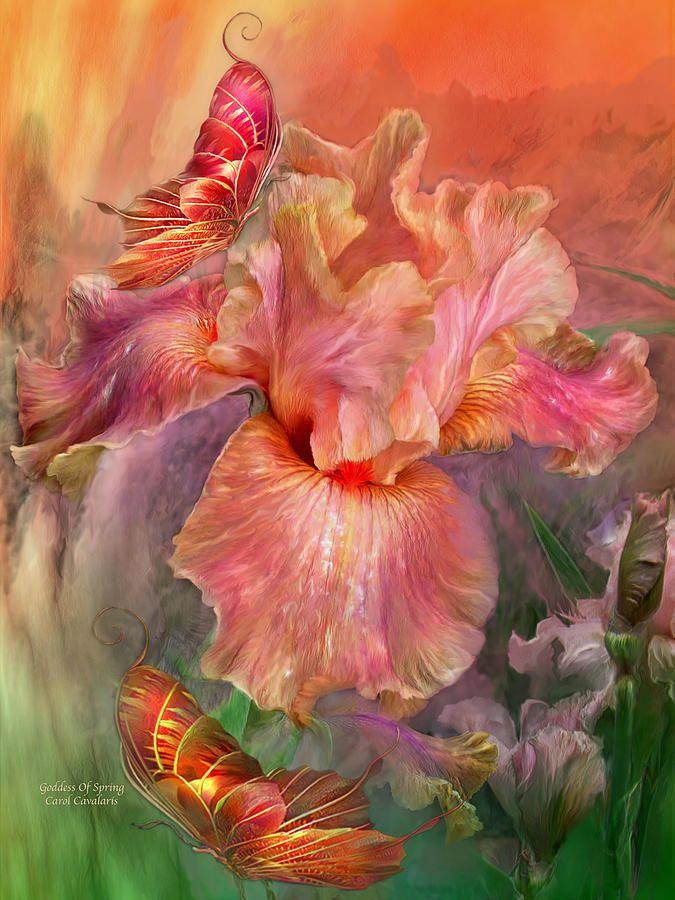 Goddess Of Spring Mixed Media  - Goddess Of Spring Fine Art Print