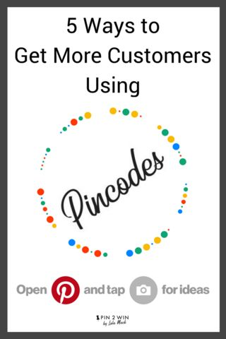 Pinterest Pincodes help customers discover your products and your brand. Pincodes direct customers straight to your Pinterest page or Pinterest board, showcasing your best bits. Pincodes are a great, easy Pinterest tool for marketing your business. Your customers will love them and so will you! #PinterestTips #PinterestMarketing #PinterestForBusiness