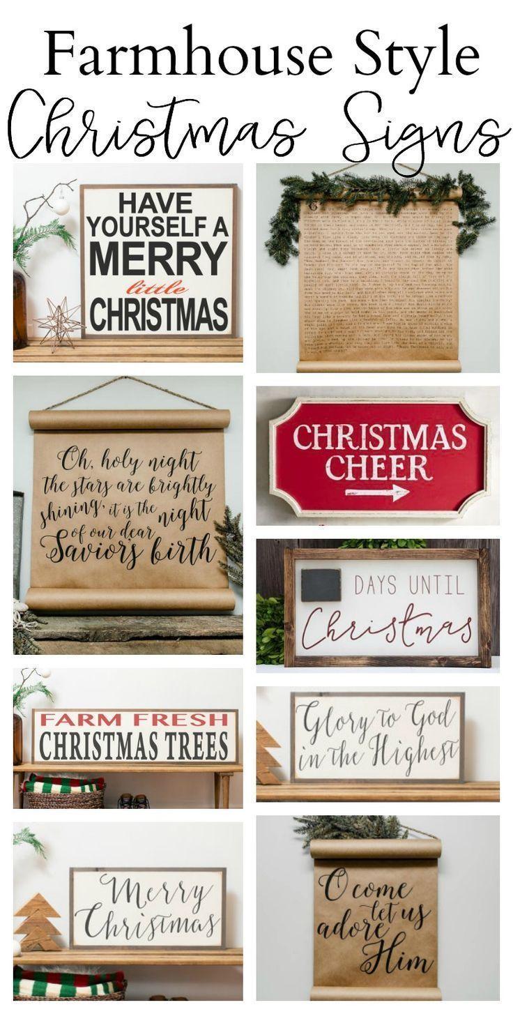 Cozy Farmhouse Style Christmas Decor Christmas Signs Farmhouse Style Christmas Christmas Farm