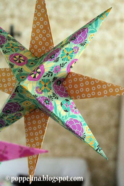 Poppelina: DIY paper star. http://poppelina.blogspot.fi