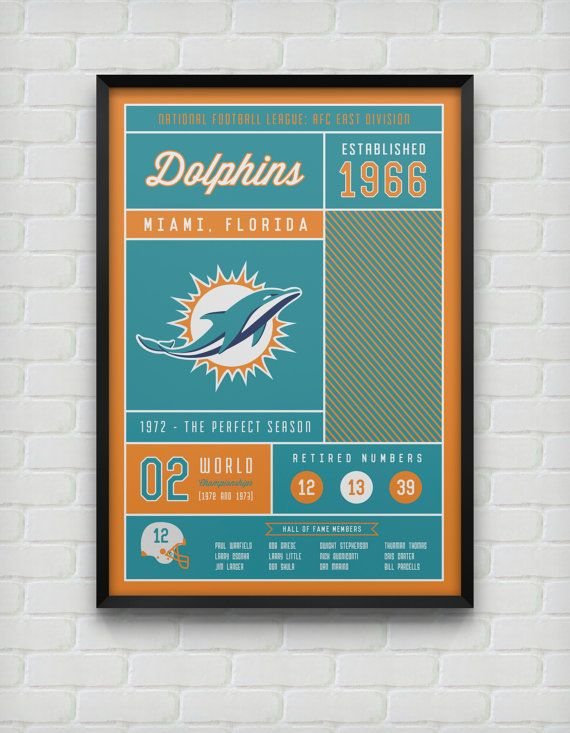 Miami Dolphins Stats Print