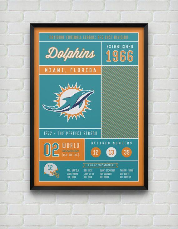Miami Dolphins Stats Print