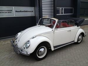 VW Kever cabrio huren (Wit - 1965) - HuurEenOldtimer.nl | Oldtimer huren | Trouwauto verhuur