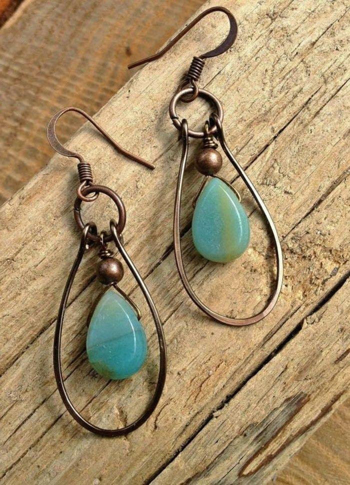 Ohrringe opal selber machen