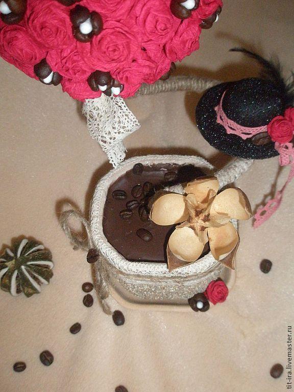 """Купить Топиарий """"Мадмуазель Коко"""" - фуксия, топиарий, топиарий дерево счастья, европейское дерево"""