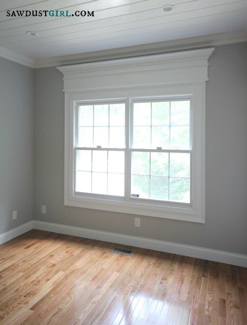 Door And Window Trim Molding With A Decorative Header Woodwork Window Molding Trim Interior