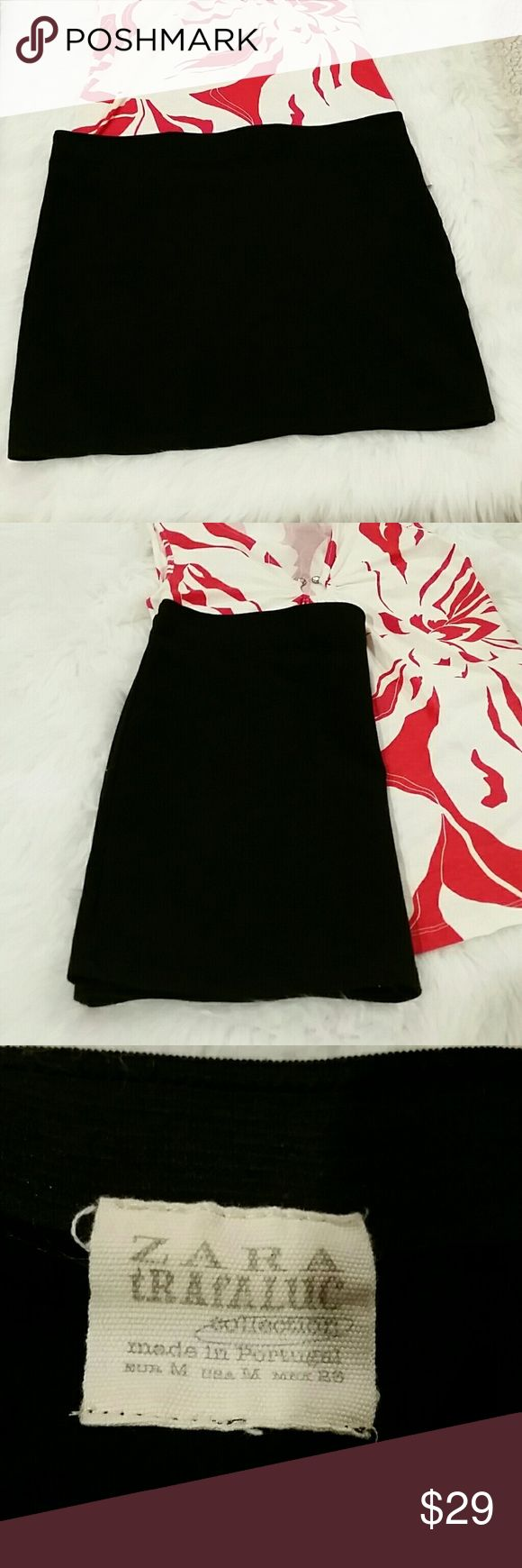 Zara trafaluc womens black tube skirt Mini Beautiful, pictures do not do this skirt justice excellent condition Size medium Zara Skirts