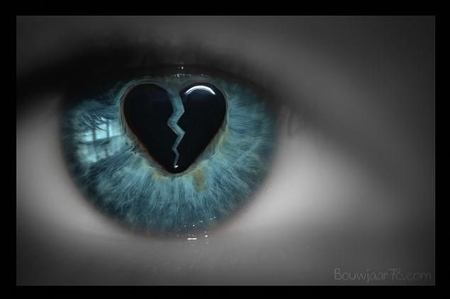You can always see a broken heart when you look someone directly in the eye...