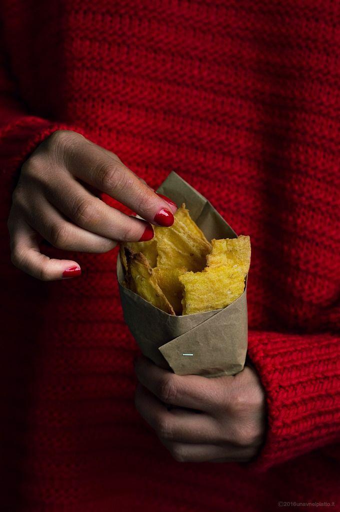 Chips di mais e semi di sesamo