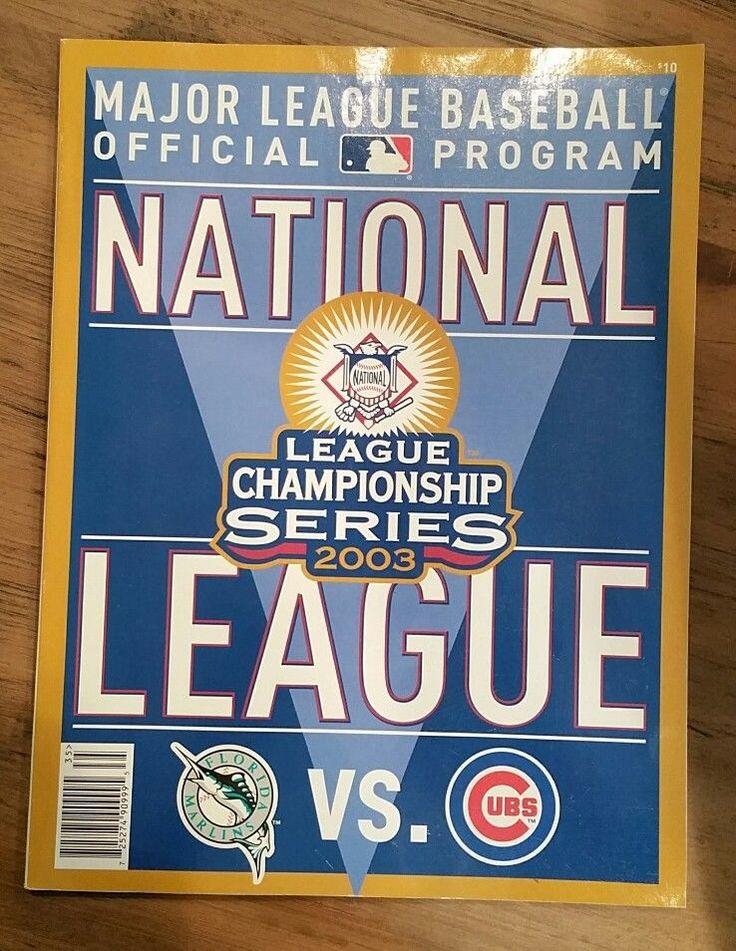 Chicago Cubs Florida Marlins 2003 National League Championship Series Program #ChicagoCubs
