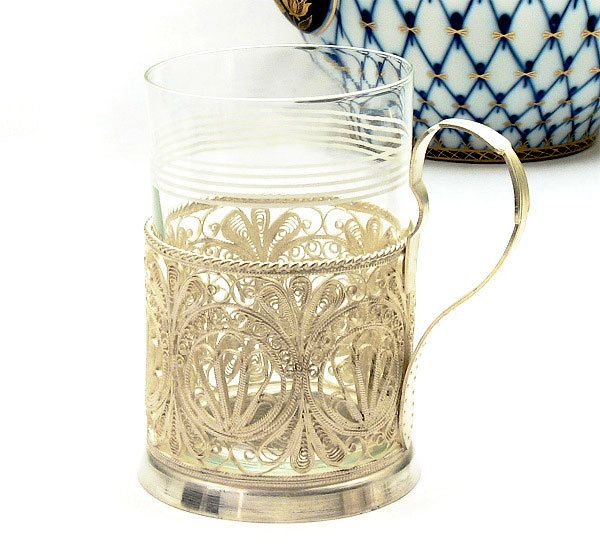 Russian Filigree Tea Glass Holder at The Russian Gift Shop in Lisle IL