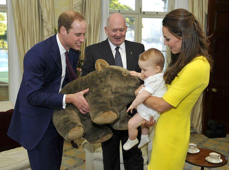 Kate Middleton, Prince William, Prince George, Sir Peter Cosgrove