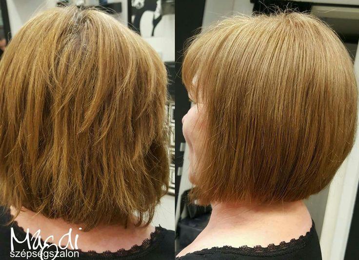 Egy hajfestéssel felfrissítheted a hajszíned, egy igazítással a frizurád vonalait. Magdi festésének és vágásának eredménye :)  www.magdiszepsegszalon.hu  #bob #bobhair #bobhaj #shortbob #rövidbob #fodrász #fodraszat #hairdresser #hajdivat #hairfashion #beautysalon #szépségszalon #haircut #hajvágás #haircolor #hajfestés