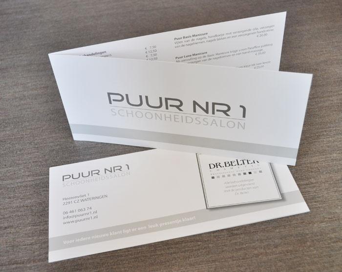 Leaflet beauty salon · http://www.puurnr1.nl