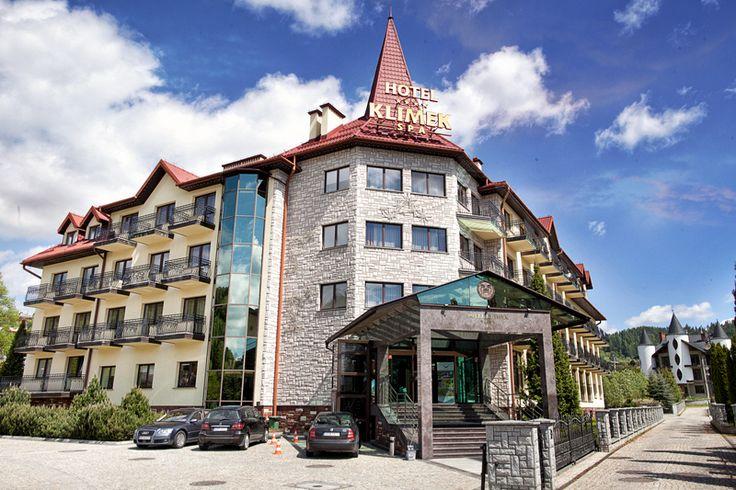 Widok naszego Hotelu z zewnątrz :) #hotelklimek #hotelklimekspa #muszyna #mountains #beskidsadecki #gory