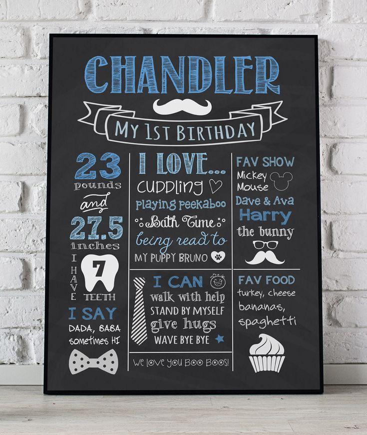 first birthday invitation for my son%0A Mustache First Birthday Chalkboard Poster  Little Man  st Birthday Sign   Bow  u     Tie Birthday