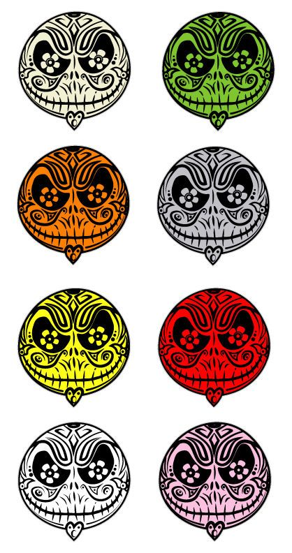 Lot 8 pcs Jack Skellington Sugar Skull Decals Nightmare Before Christmas Sticker