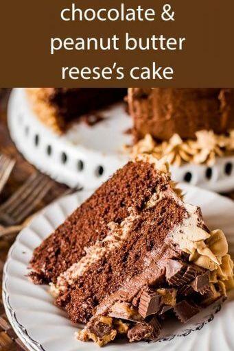 Dick Reich Hausgemachte Reese Schokolade Erdnussbutter Kuchen Mit