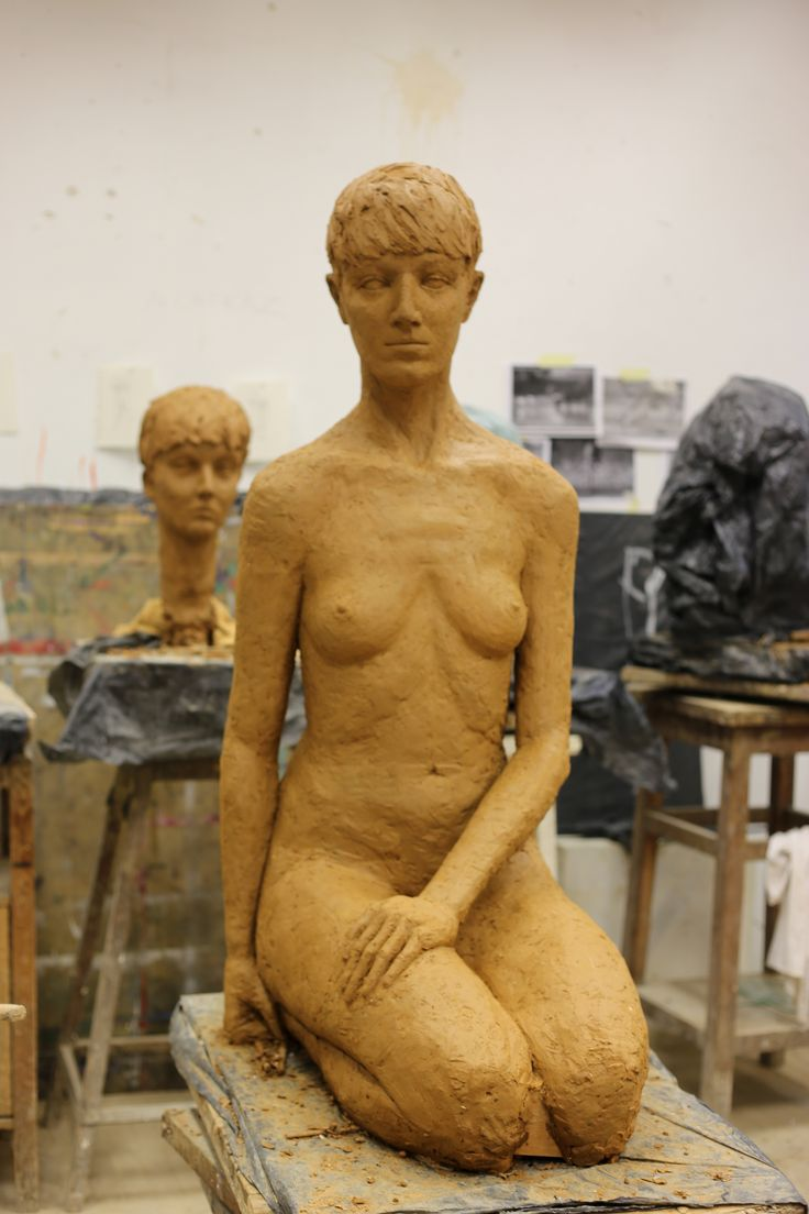 not done, there was no time , so sad- don't look at knees;) act le nu sculpture clay classical art