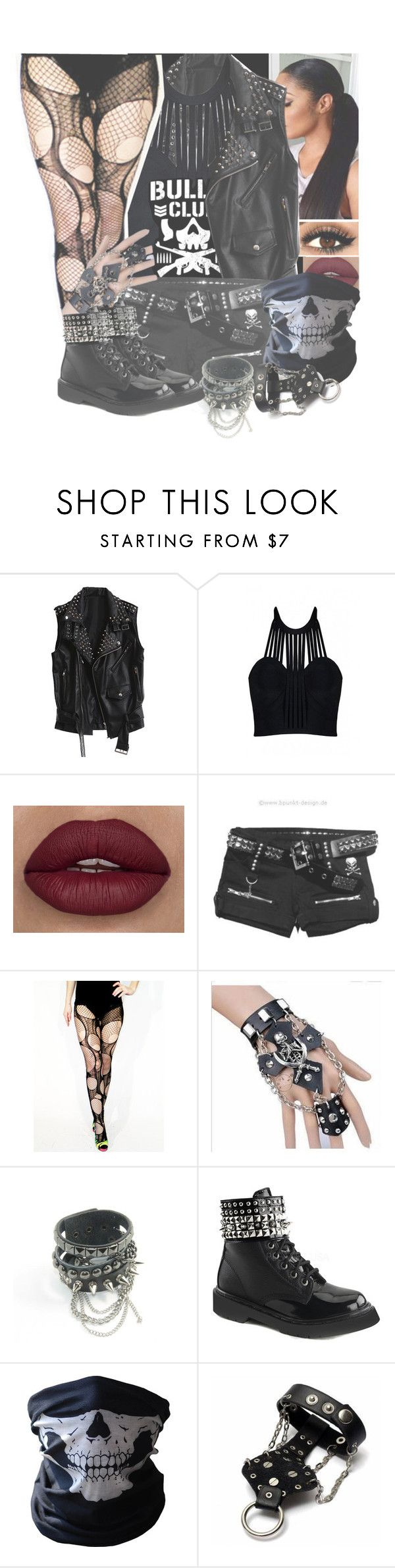 """✖Bullet Club Member✖"" by basket-case47 ❤ liked on Polyvore featuring Posh Girl, Diane Von Furstenberg, Trend Cool, Demonia and BUFF"