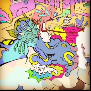 nuclear catsooey #pop #art #cartoons #psycho #surreal