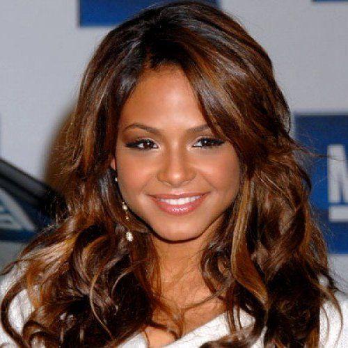 Auburn And Caramel Highlights In Brown Hair Hair Color