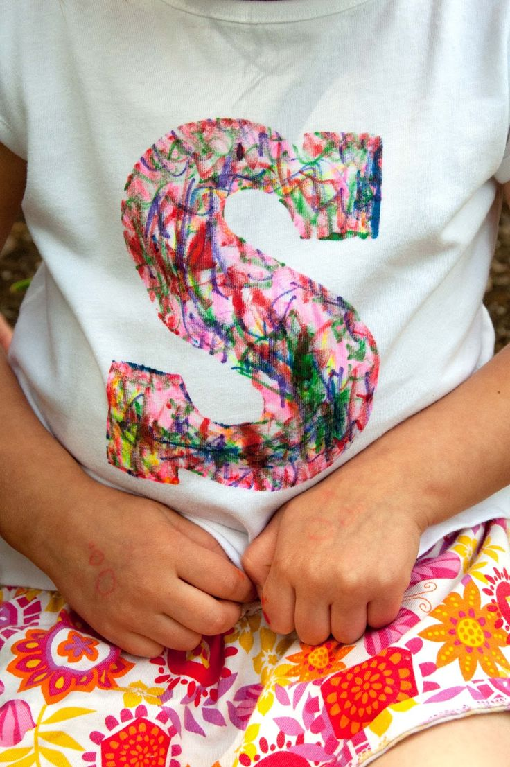 {Personalized scribble shirts} these would be great activity for a kids party!