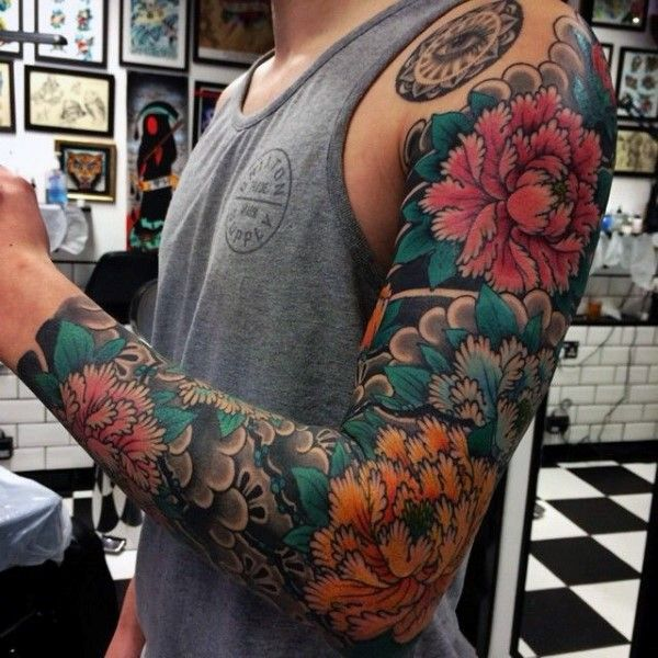 Full Sleeve Japanese Tattoo For Men                                                                                                                                                     More
