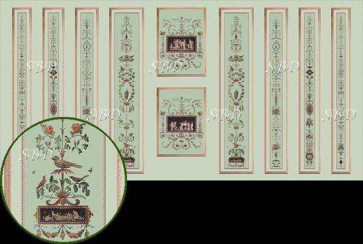 Miniature Wallpapers and Fabrics - Revéillon Panels