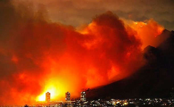 Cape Town raging fire 2015 - Mother Nature, epic cleanse and close call
