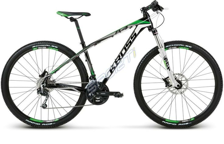 Sporti.pl - #Rower #Kross LEVEL B4 czarno-zielono-biały 2014  #bike #bicycle