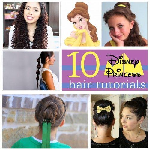 10 Disney Princess Hairstyles - tipsaholic.com #hairdos #disney #princess #hair