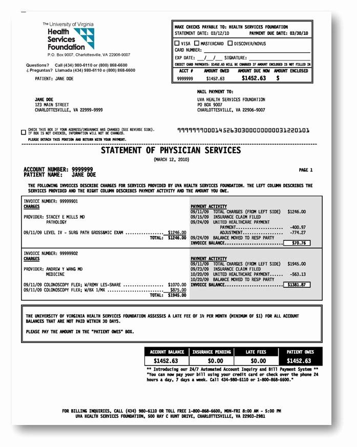 Itemized Billing Statement Template Luxury 30 Of Sample Patient Medical Billing Invoice Statement Template Flow Chart Template Templates