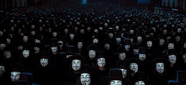 This scene is why the mask means so much to me. Before Anonymous made it their symbol, it meant revolution by everyone, not just a secret group of hackers.