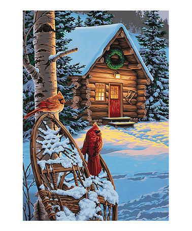 Look what I found on #zulily! Cardinals & Cabin Paint by Numbers Kit by PaintWorks, $15 !! #zulilyfinds