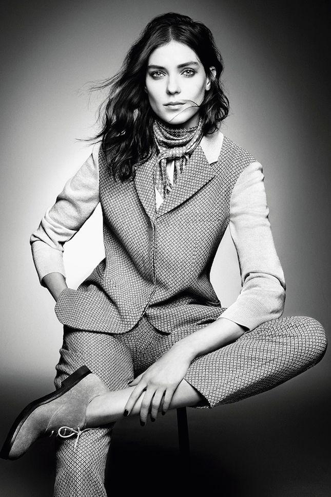 New Normal: российская модель Кати Нешер для Giorgio Armani осень 2015