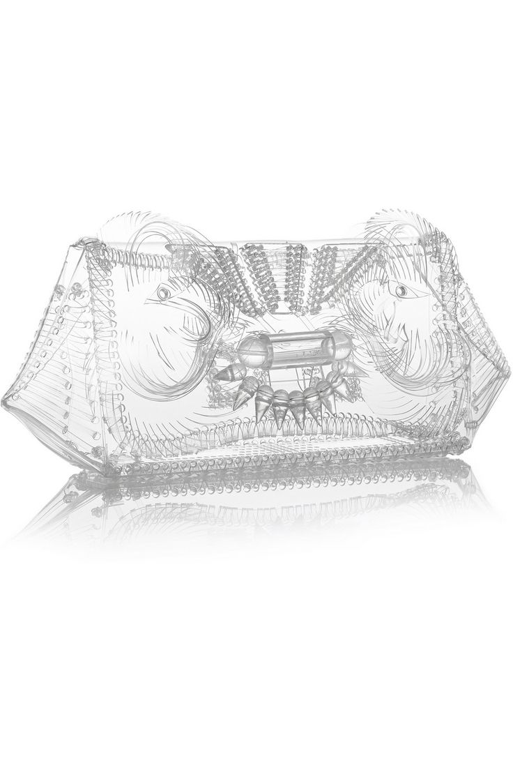 Finds | + Mame embellished vinyl clutch | NET-A-PORTER.COM