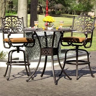 Shop for Evangeline 2-person Cast Aluminum Patio Bar Set. Get free delivery at Overstock.com - Your Online Garden