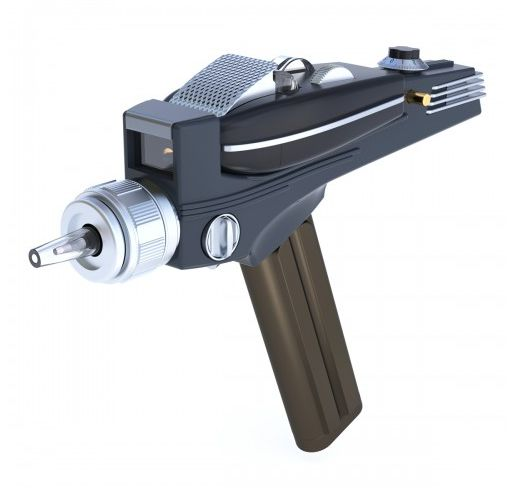 Star Trek Original Series Phaser Universal Remote Control available at http://shop.startrek.com/star-trek-original-series-phaser-universal-remote-control/detail.php?p=616856&v=startrek_best-sellers